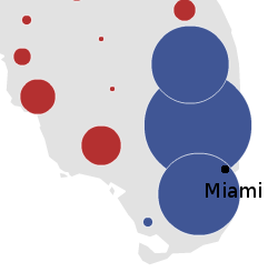Obama's performance in south Florida