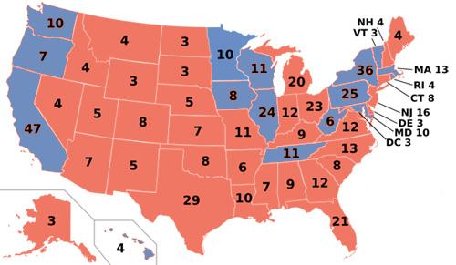 1984 electoral map 50%