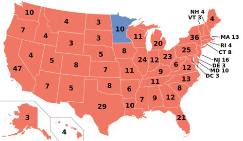 1984 electoral map