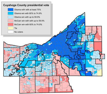 Cuyahugo County by precinct
