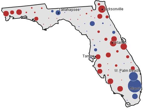 Florida, 1992 presidential election (NYT)
