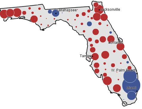 Florida, 2004 presidential election (NYT)
