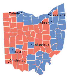 Ohio, 1996 presidential election