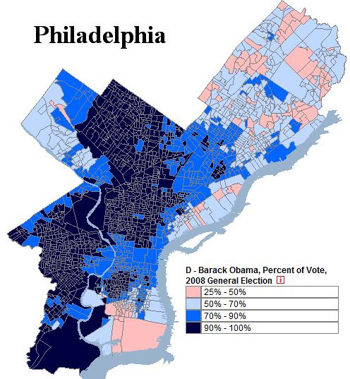 Pennsylvania Philadelphia Precinct Obama% Vote