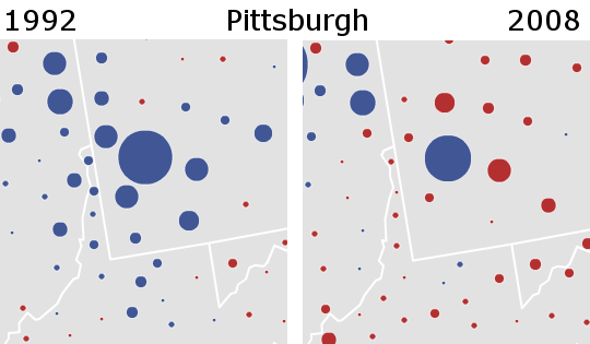 Pennsylvania Pittsburgh Comparison