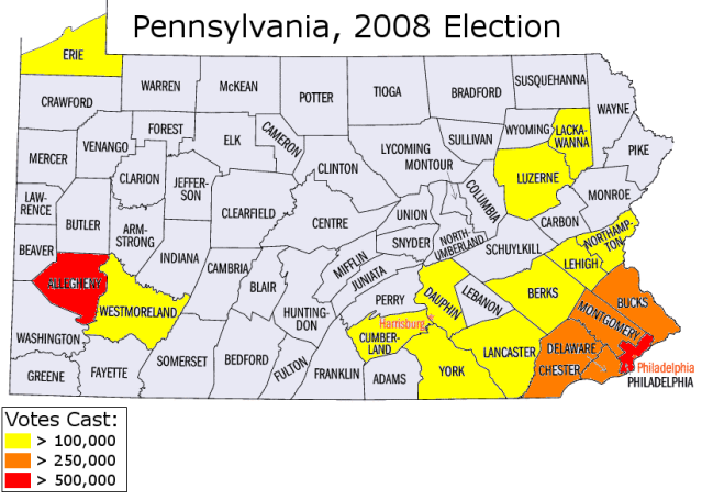 Pennsylvania Votes Cast