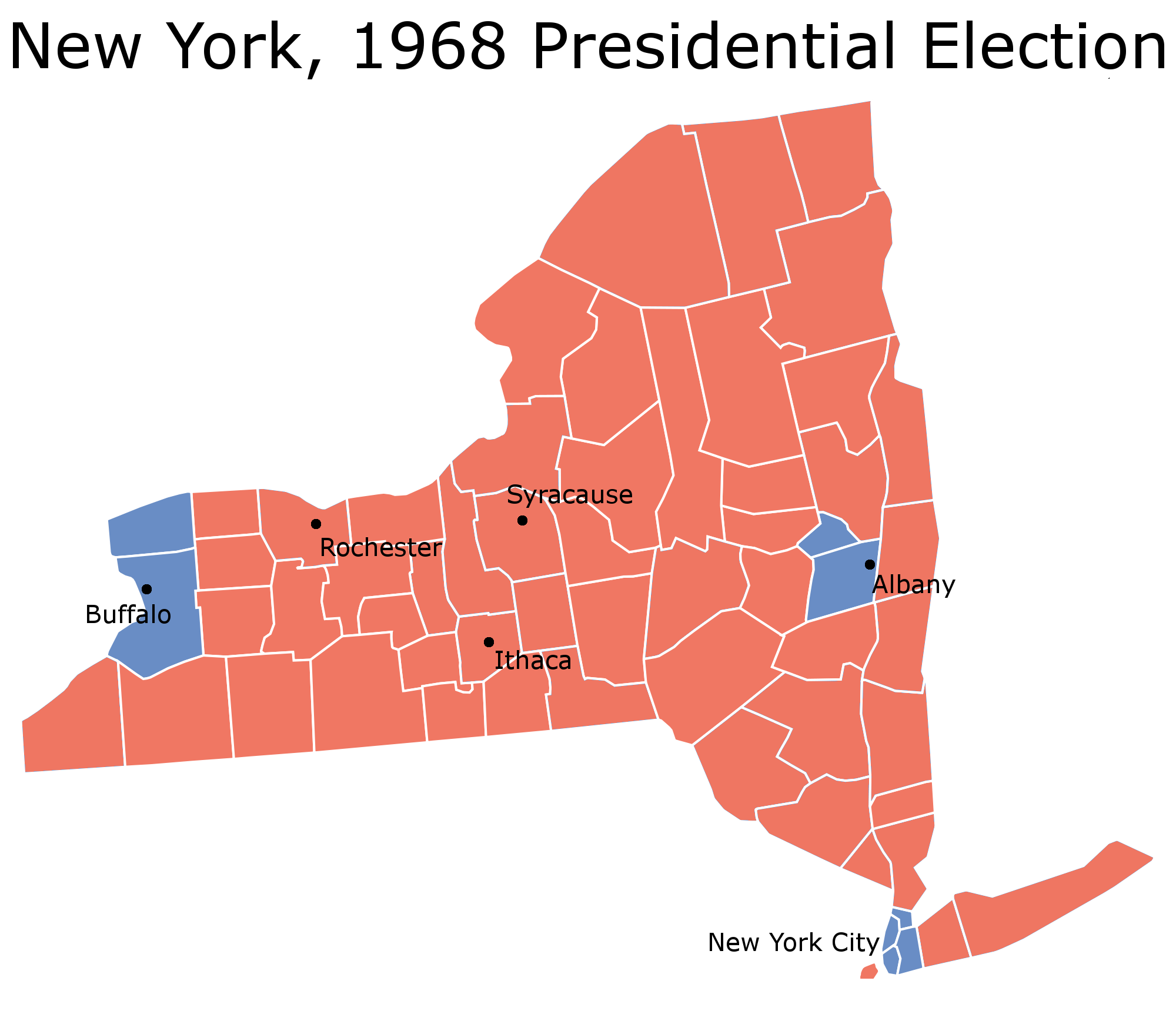 Previewing Senate Elections New York - New york map rochester
