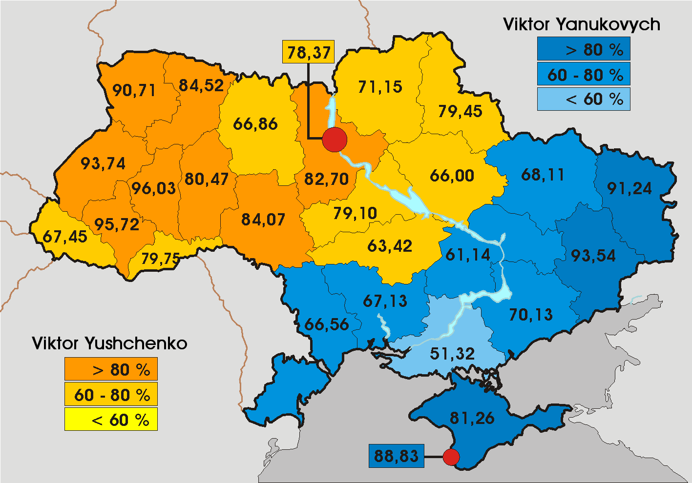 Ukrainepresidentialelectionbyregionpng - Us election map 20112