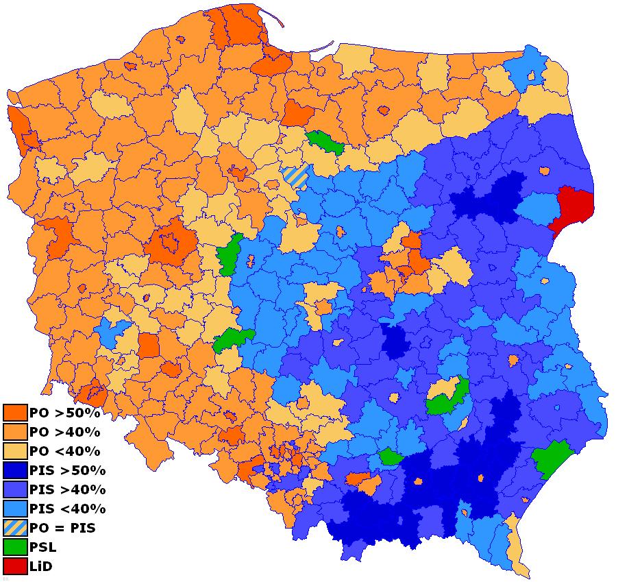 Analyzing Polish Elections The Politikal Blog - Poland political map