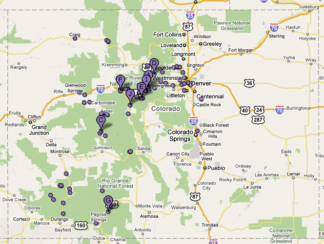 Map Of All Ski Resorts In Colorado You Can See A Map Of Many