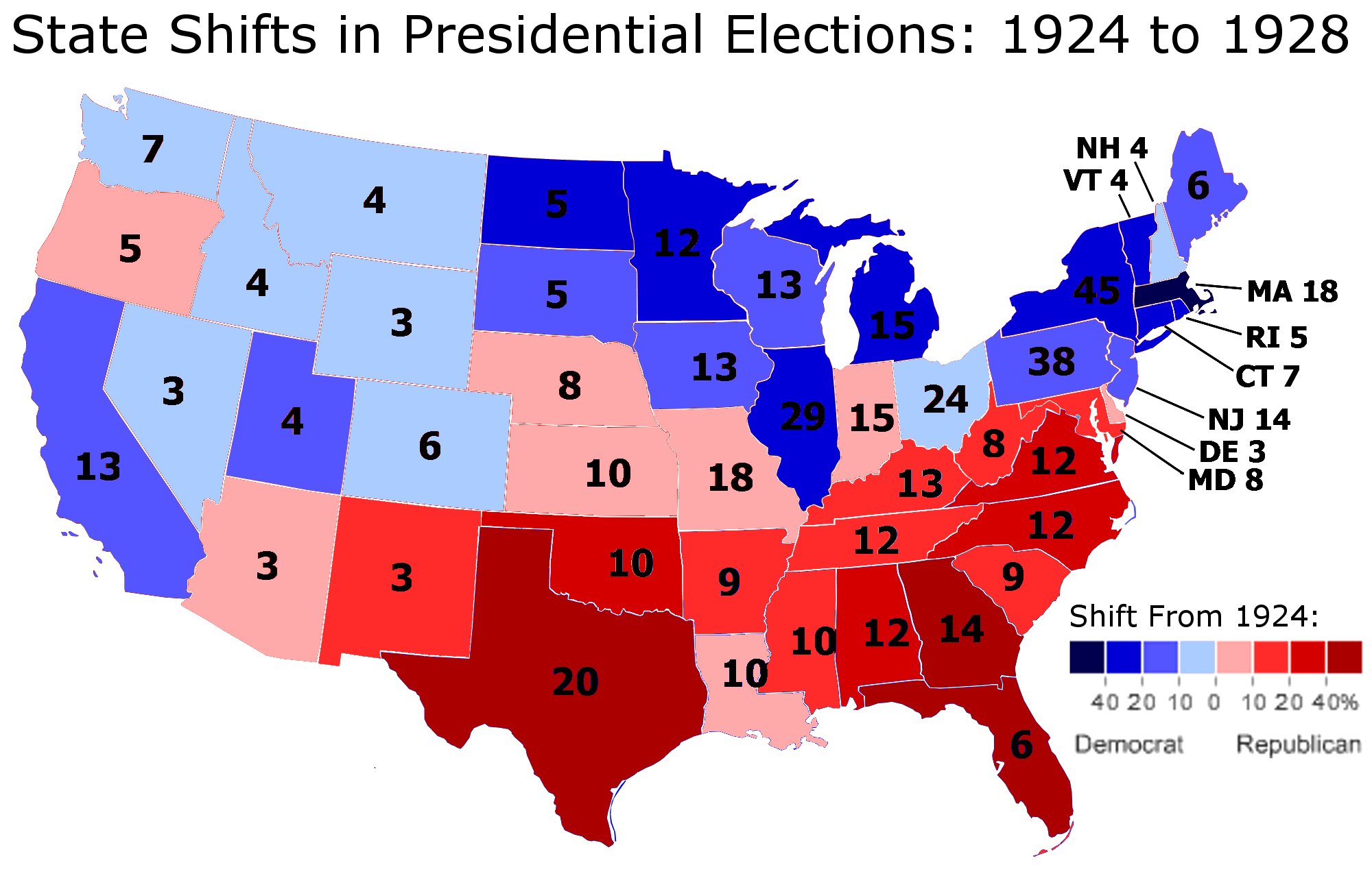 The Great Realignment The Presidential Election Part - Democrat republican map