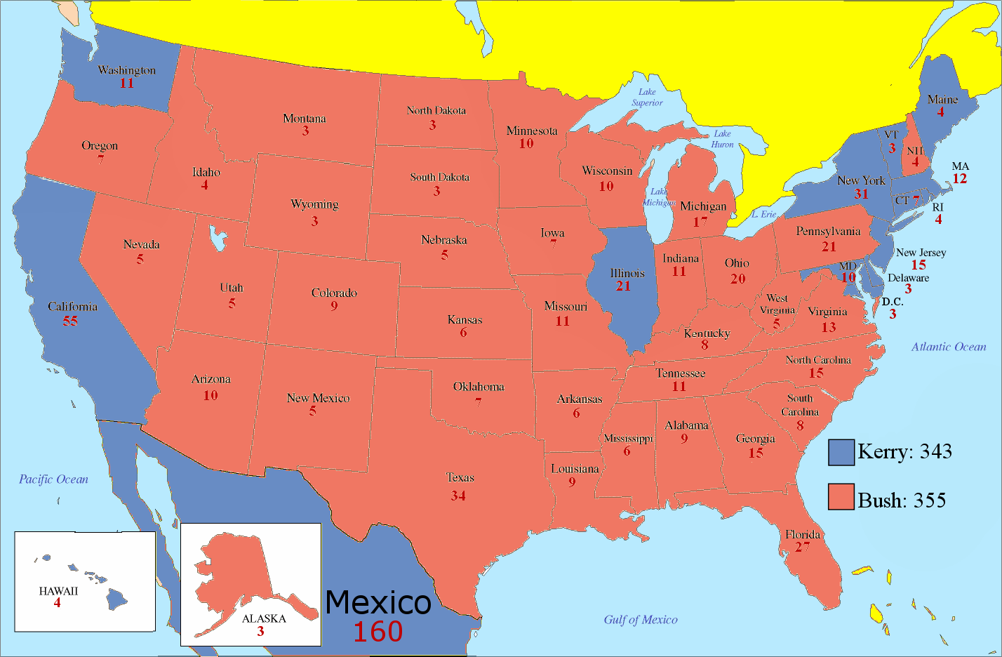 What If Mexico Was Part Of The United States The Politikal Blog - Map of united states states only