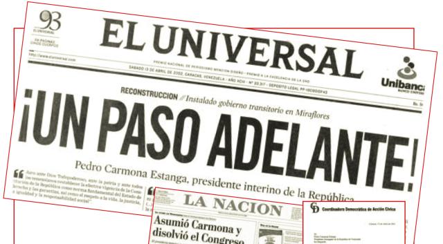 El Universal Hugo Chávez golpe de estado